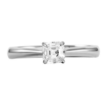 SINGLE STONE ASSCHER CUT DIAMOND RING